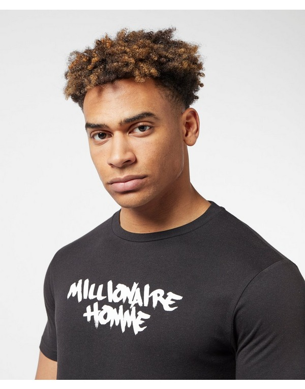 Millionaire Homme Paint Logo Short Sleeve T-Shirt