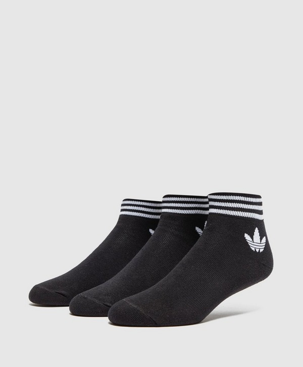 adidas Originals 3-Pack Trefoil Ankle Socks