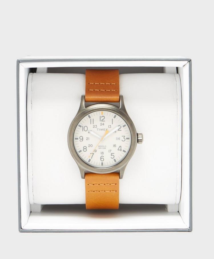 Timex Allied 40mm Leather Strap Watch