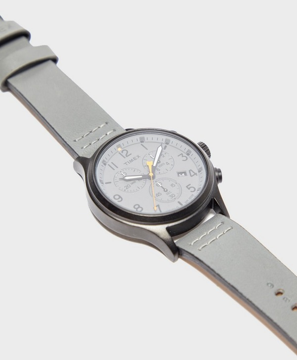 Timex Allied Chronograph 42mm Leather Strap Watch