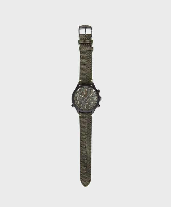 Timex Waterbury World Time 43mm Fabric Strap Watch