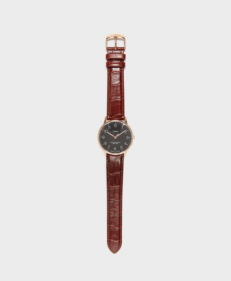 Timex Waterbury Classic Leather Strap Watch