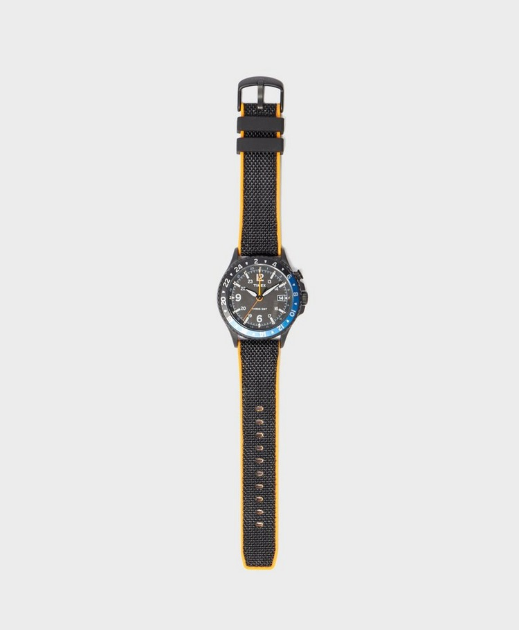 Timex Allied Three GMT Silicone Strap Watch
