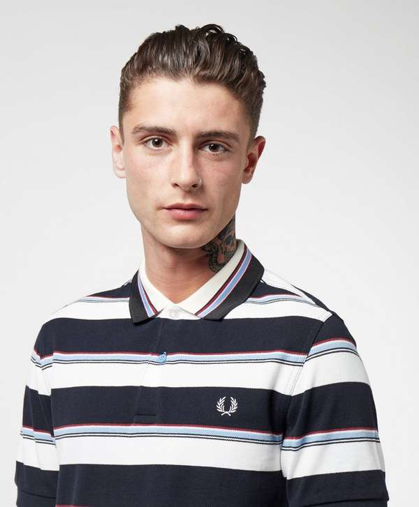 Fred Perry Stripe Short Sleeve Polo Shirt