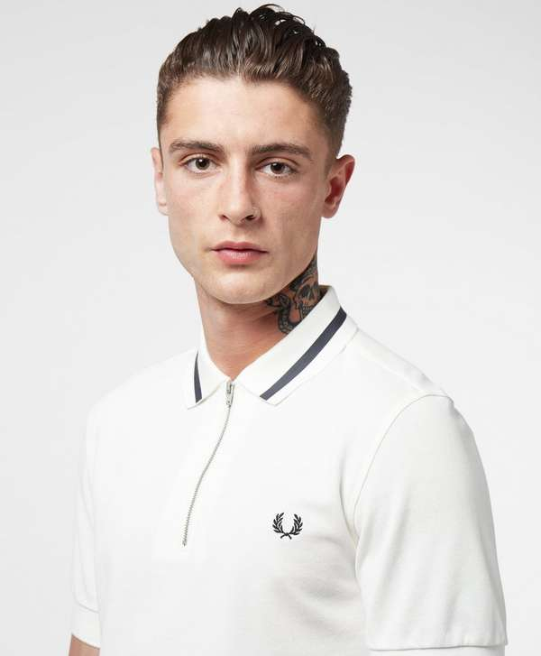 Fred Perry Zip Collar Short Sleeve Polo Shirt