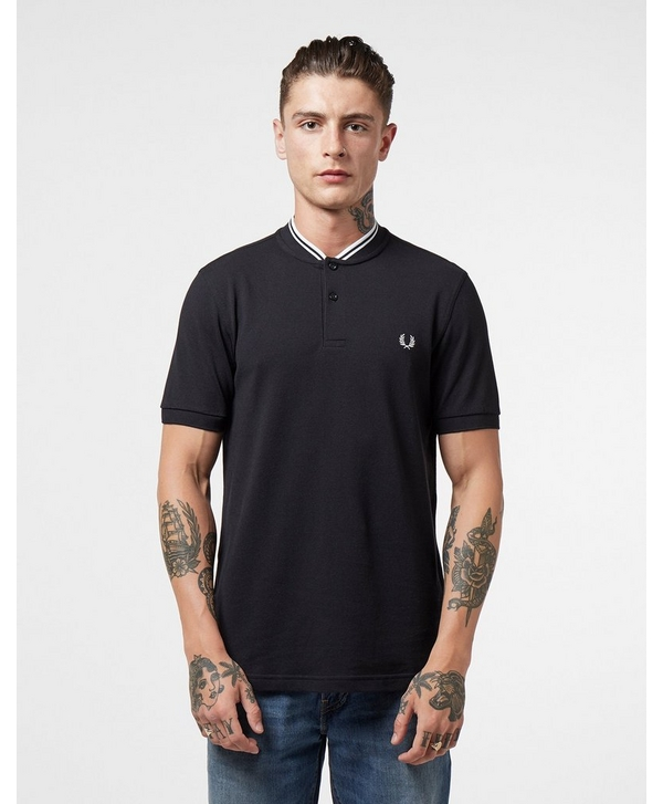 1f69d11c Fred Perry Bomber Collar Short Sleeve Polo Shirt | scotts Menswear
