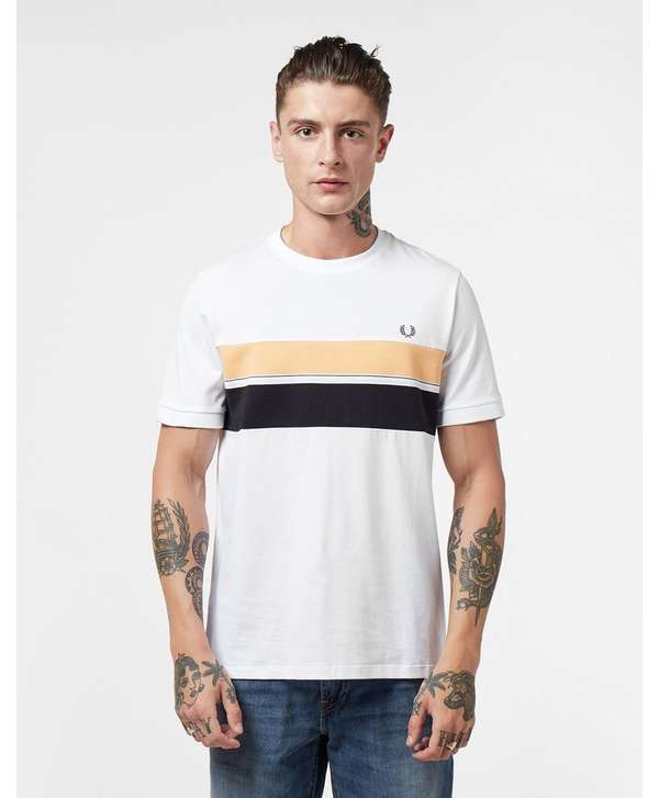 Fred Perry Stripe Panel Short Sleeve T-Shirt
