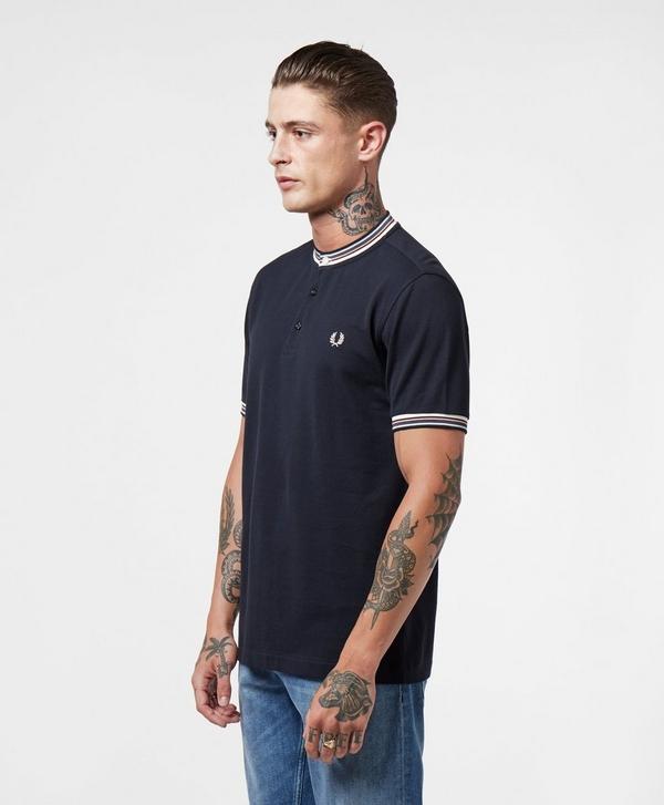 7fbc68d82 Fred Perry Henley Pique Short Sleeve Polo Shirt | scotts Menswear