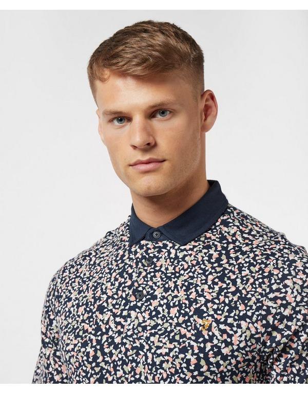 Farah Nelson Dot Short Sleeve Polo Shirt