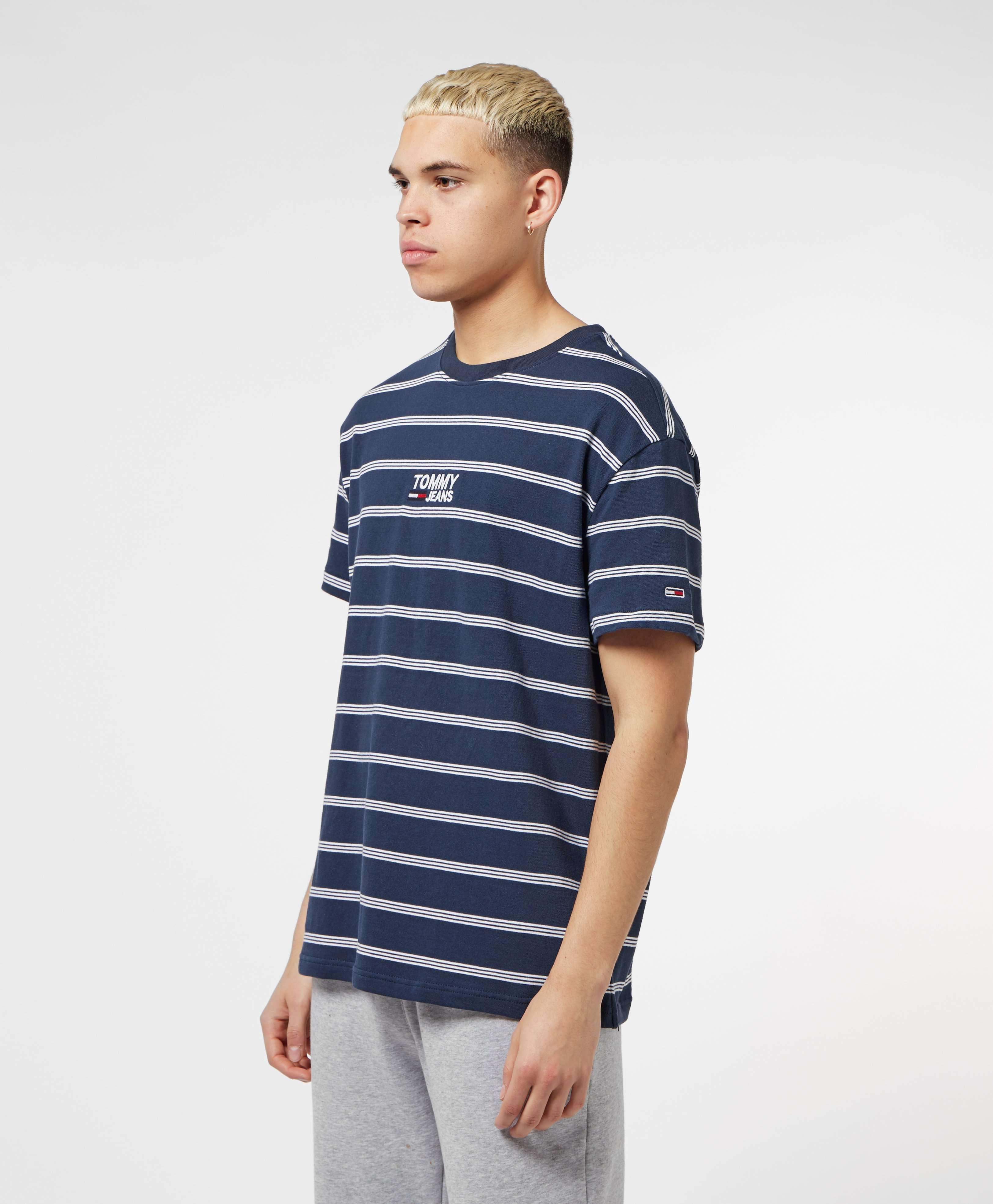Tommy Jeans Logo Short Sleeve Stripe T-Shirt