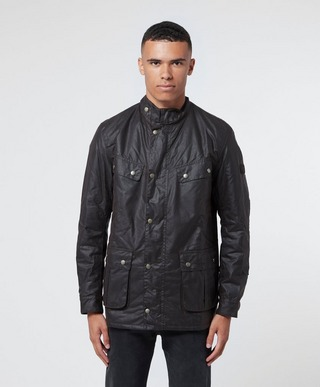 new products browse latest collections classic fit Barbour International Duke Wax Padded Jacket   scotts Menswear