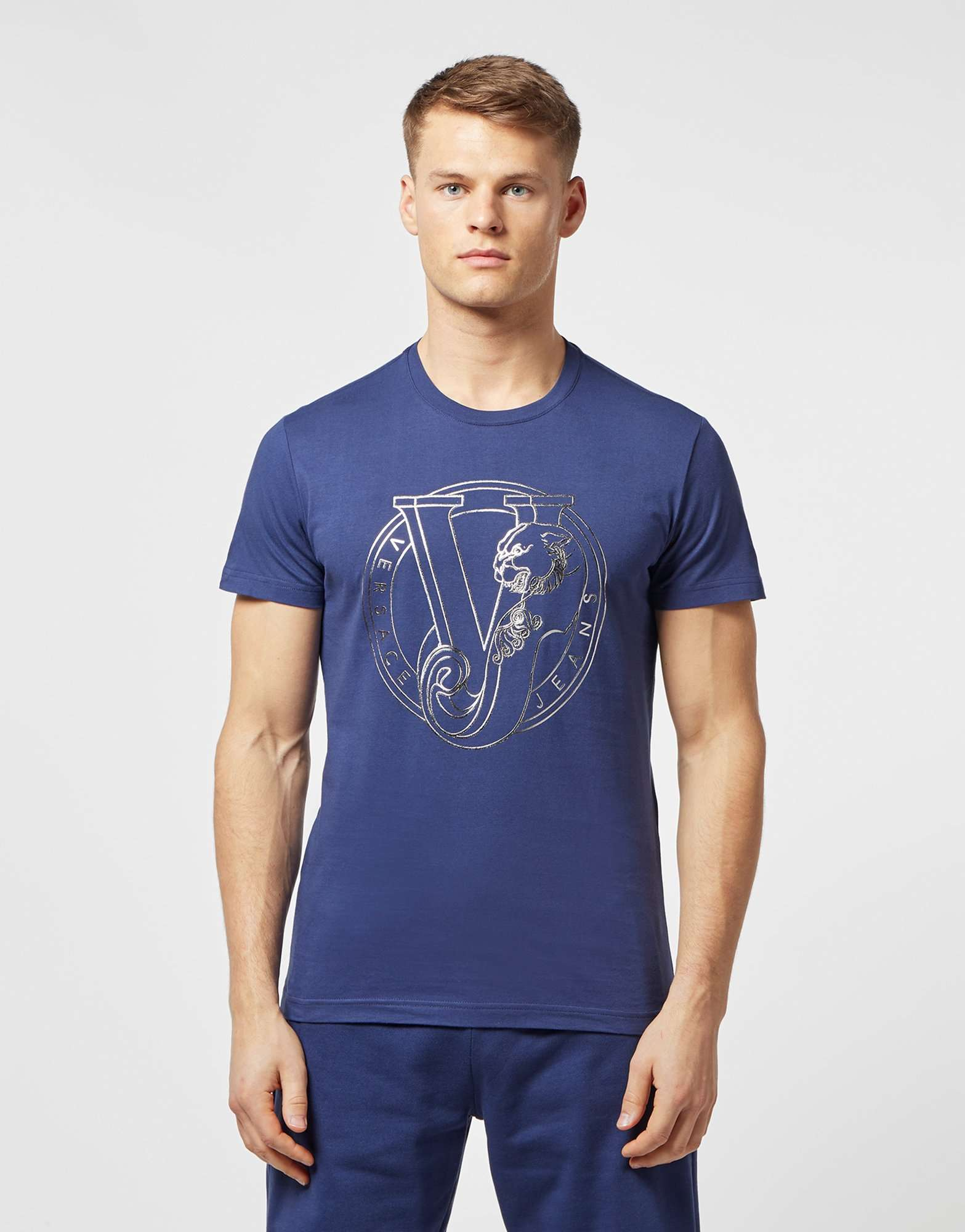 Versace Jeans Large Logo Short Sleeve T-Shirt