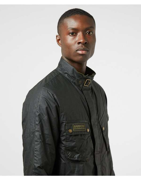 Barbour International Lever Waxed Padded Jacket