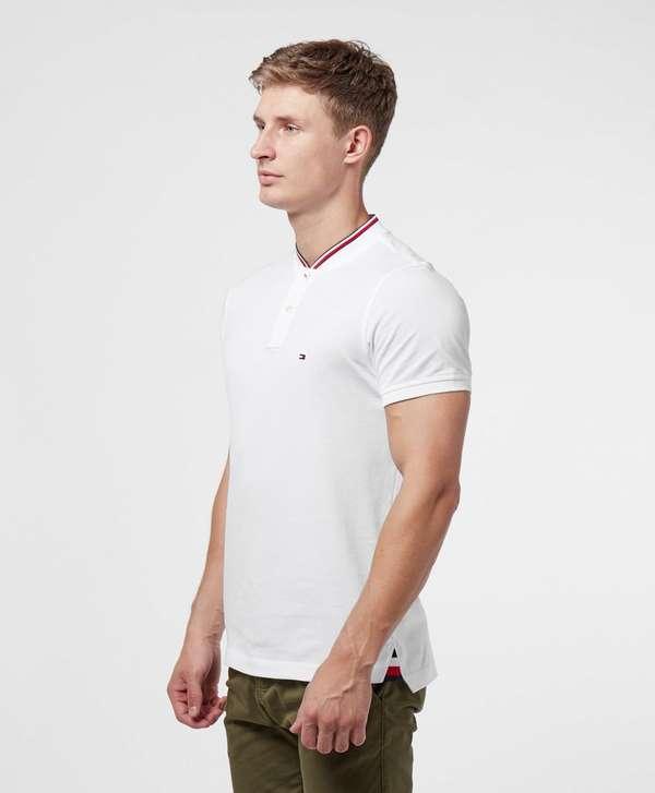 Tommy Hilfiger Baseball Collar Short Sleeve Polo Shirt
