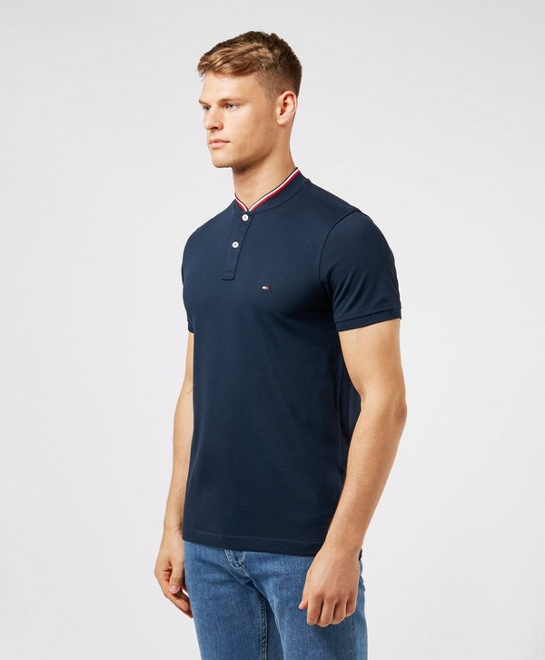 Tommy Hilfiger Baseball Collar Short Sleeve Polo Shirt