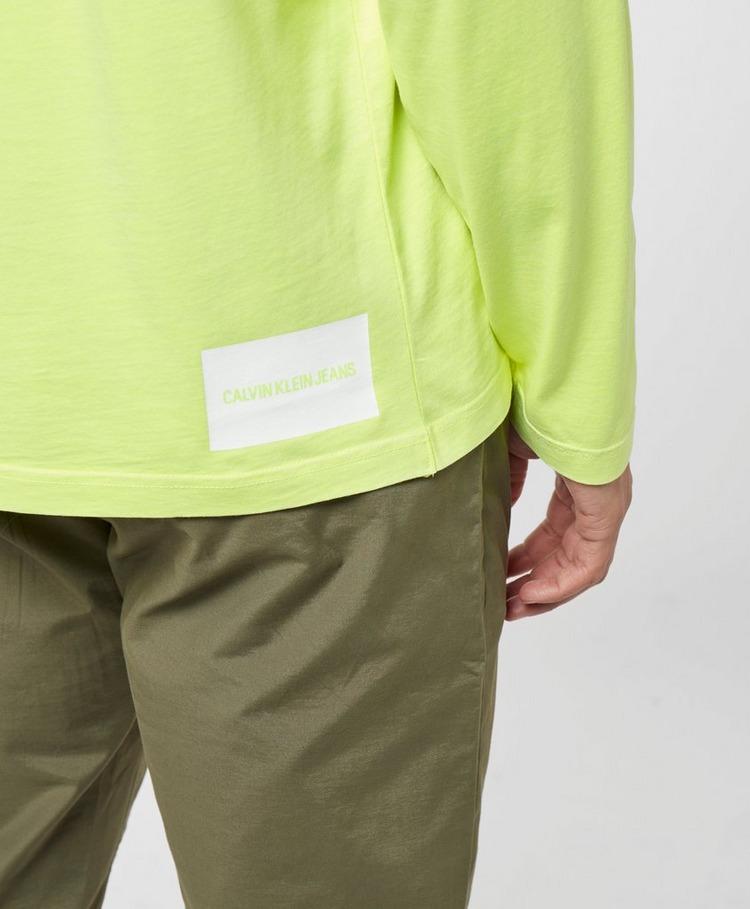 Calvin Klein Jeans Neon CK Pocket Long Sleeve T-Shirt