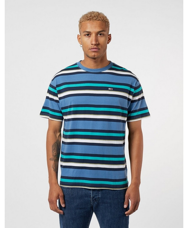 d92c40cd Tommy Jeans Multi Stripe Short Sleeve T-Shirt | scotts Menswear