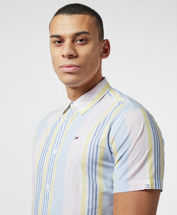Tommy Jeans Vertical Stripe Short Sleeve Shirt