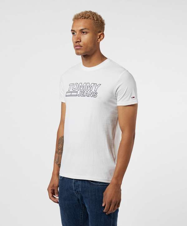 Tommy Jeans Corporate Outline Logo Short Sleeve T-Shirt