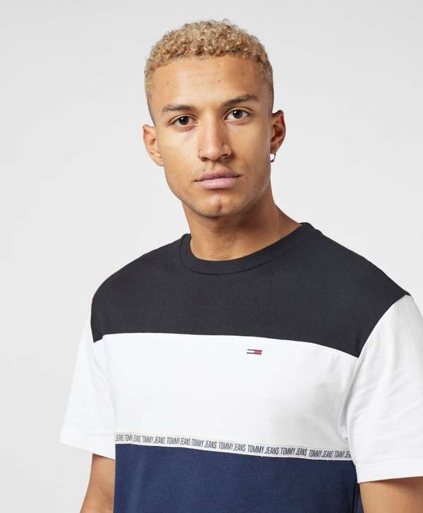 Tommy Jeans Colour Block Short Sleeve Tape T-Shirt