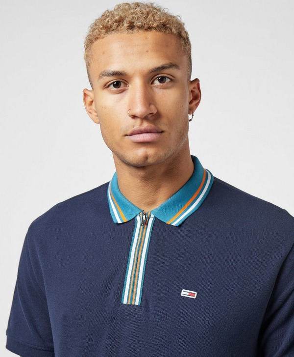 Tommy Jeans Tipped Zip Short Sleeve Polo Shirt