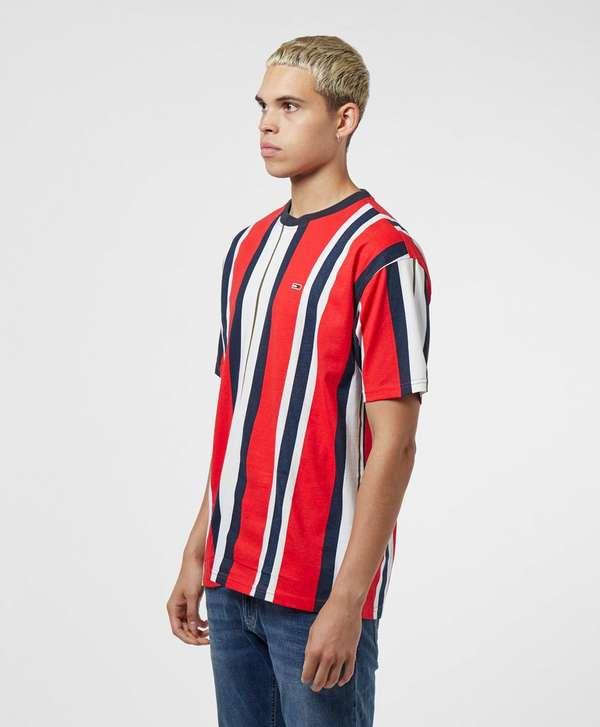 Tommy Jeans Vertical Stripe Short Sleeve T-Shirt