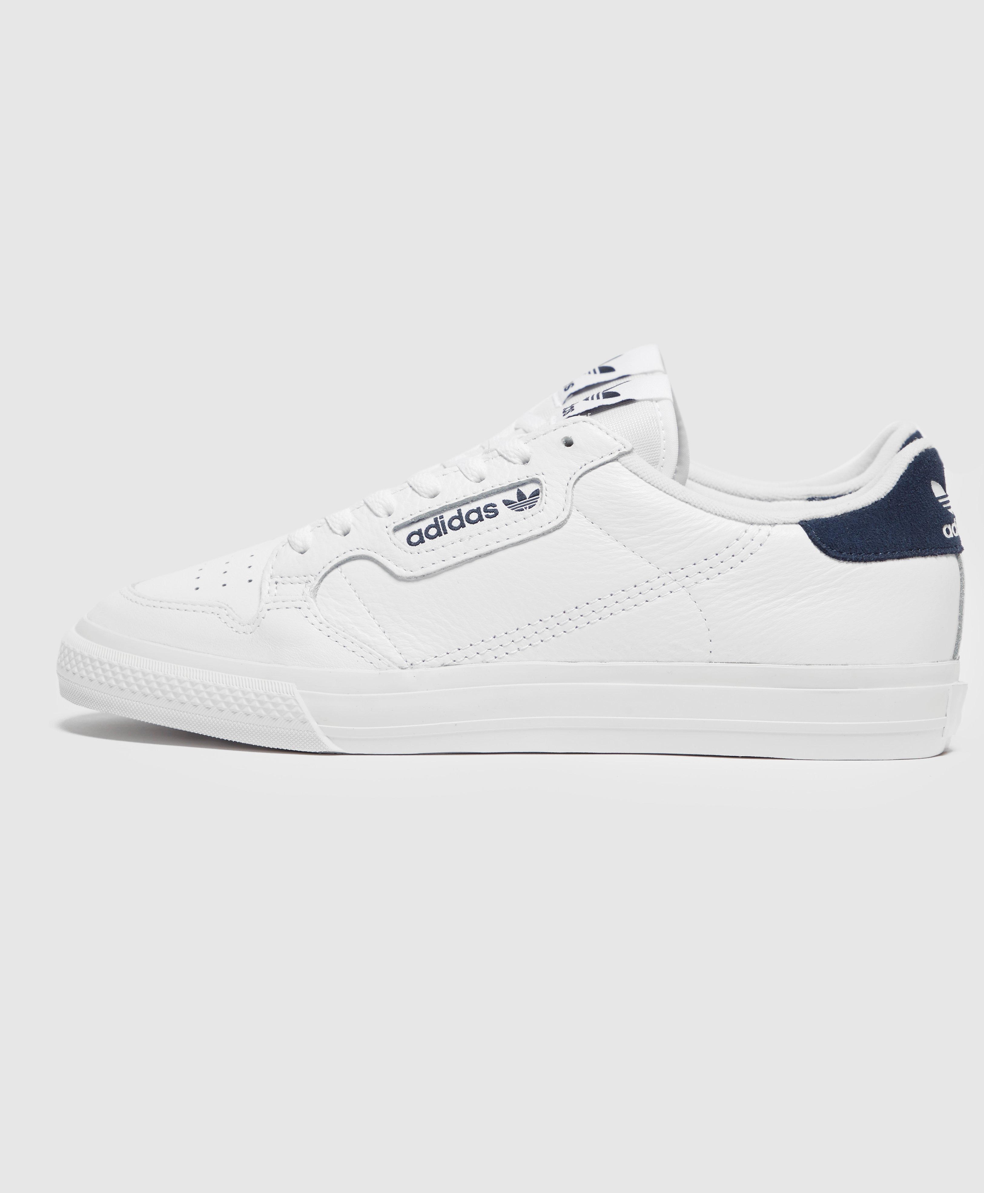 adidas Continental Vulc Trainers in White /& Navy retro leather shoe 80 90s