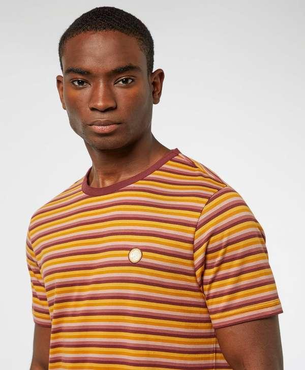 Pretty Green Gordon Feeder Short Sleeve Stripe T-Shirt