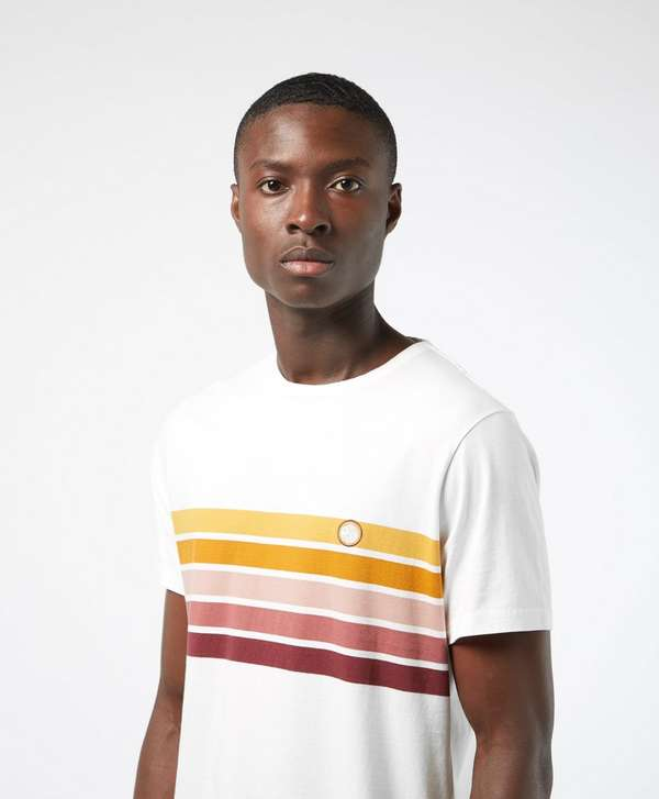 Pretty Green Gordon Chest Stripe Short Sleeve T-Shirt