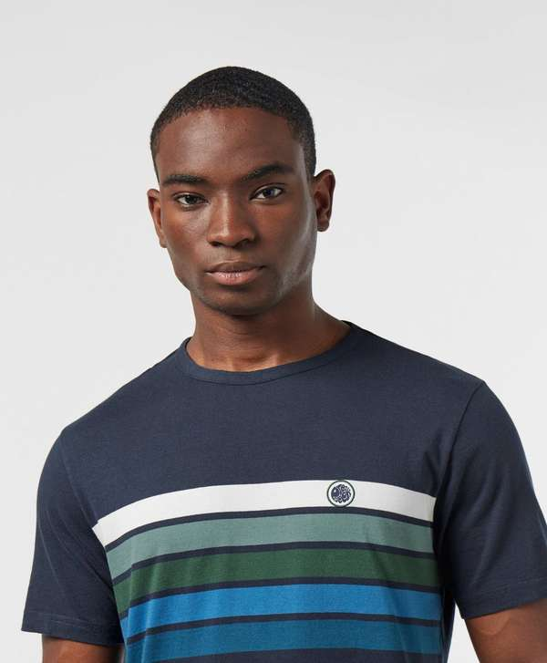Pretty Green Gordon Chest Stripe Short Sleeve T-Shirt