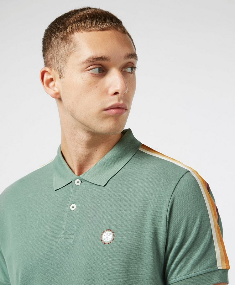 Pretty Green Park Stripe Short Sleeve Polo Shirt