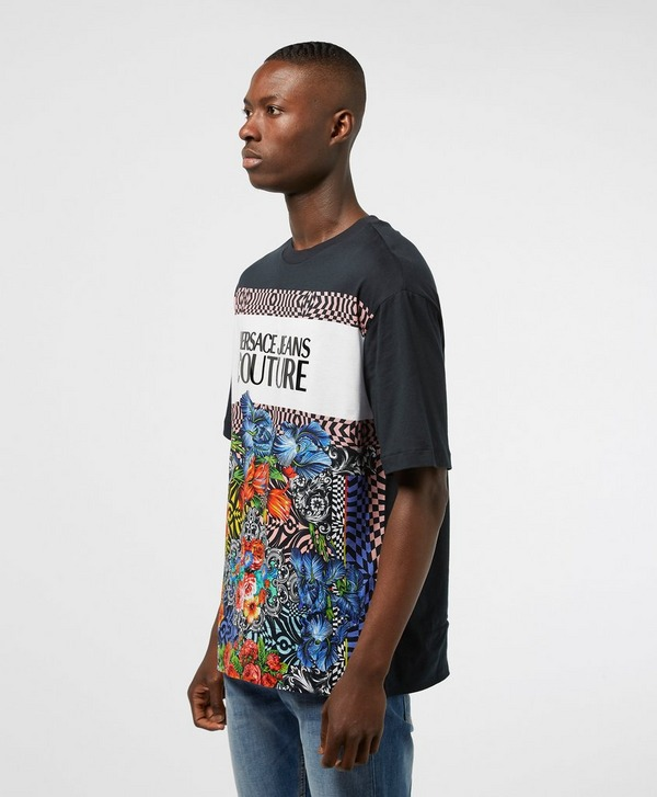 Versace Jeans Couture Block Flower Short Sleeve T-Shirt