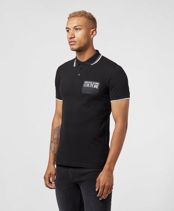 Versace Jeans Couture Square Logo Short Sleeve Polo Shirt