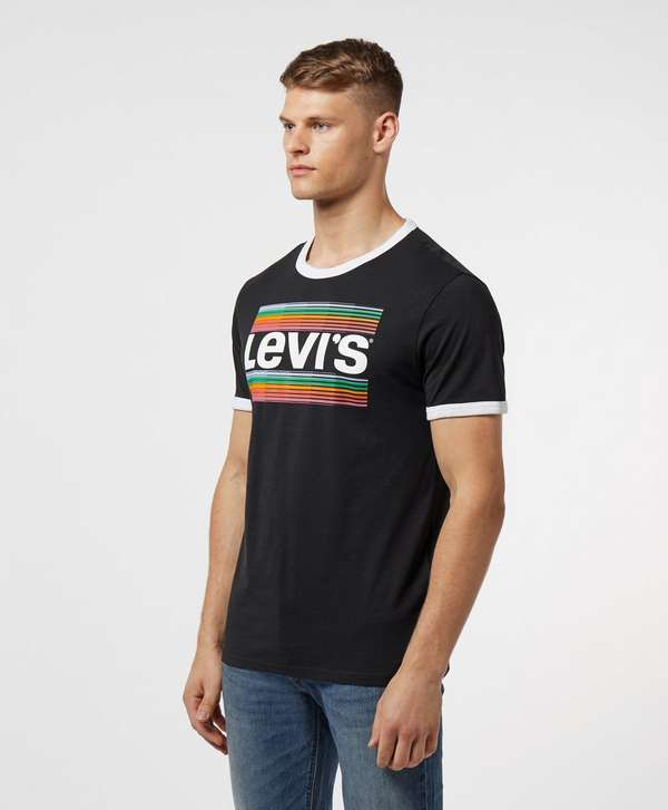 Levis Large Logo Short Sleeve Ringer T-Shirt