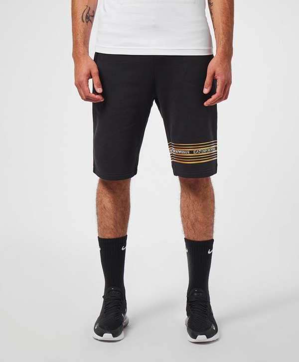 Emporio Armani EA7 Gold Band Fleece Shorts