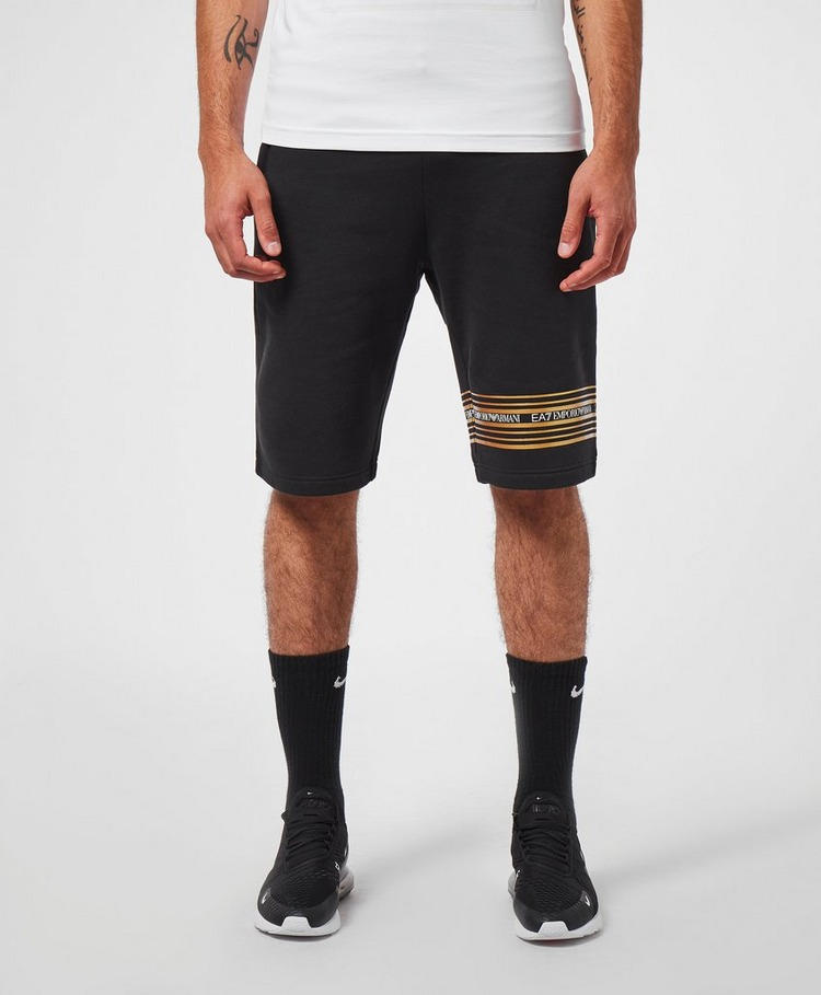 Emporio Armani EA7 Gold Band Fleece Shorts