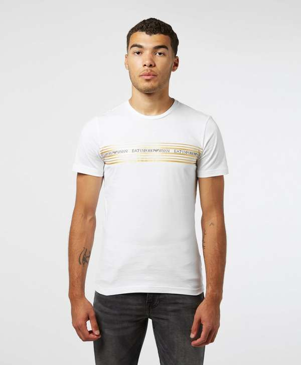 Emporio Armani EA7 Gold Band Short Sleeve T-Shirt