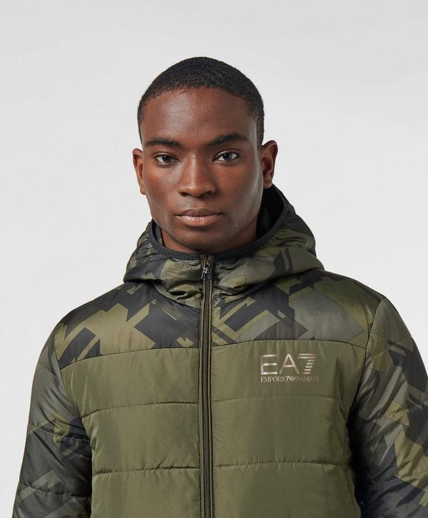 Emporio Armani EA7 Camo Panel Bubble Jacket