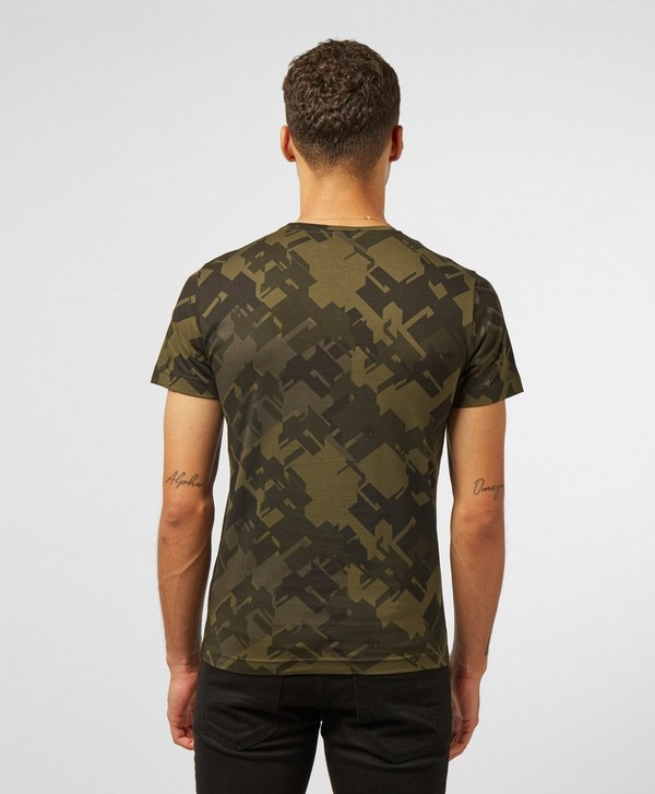 Emporio Armani EA7 All Over Camo Short Sleeve T-Shirt