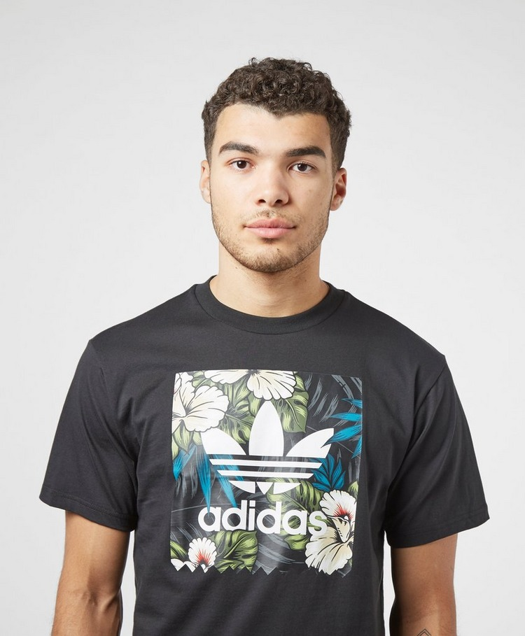 adidas Originals Floral Logo Short Sleeve T-Shirt