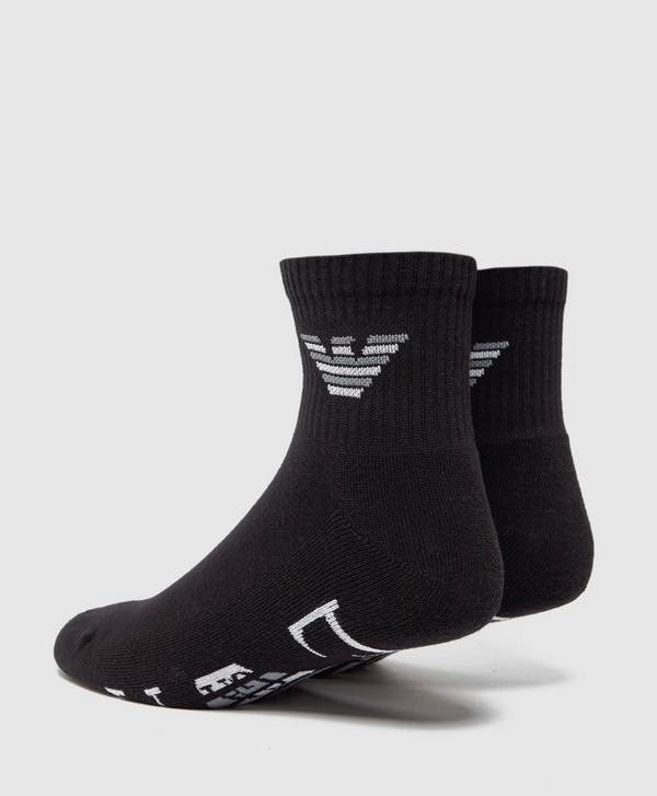 Emporio Armani 2 Pack Eagle Trainer Socks