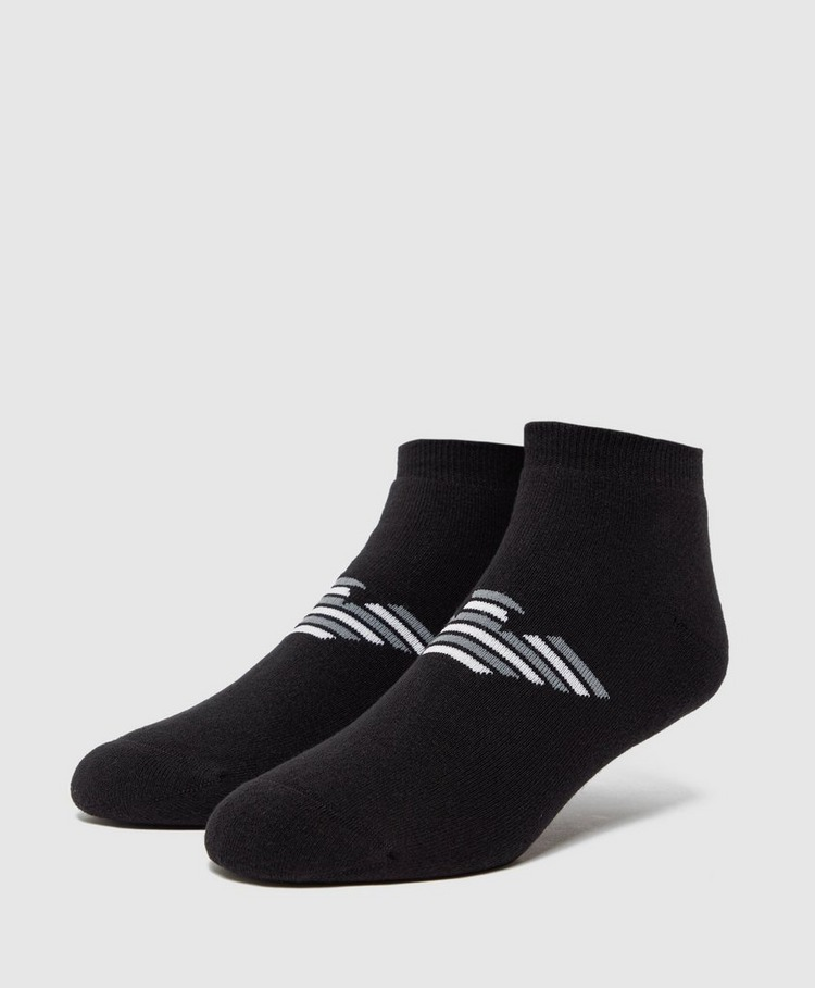 Emporio Armani 2 Pack Eagle Liner Socks