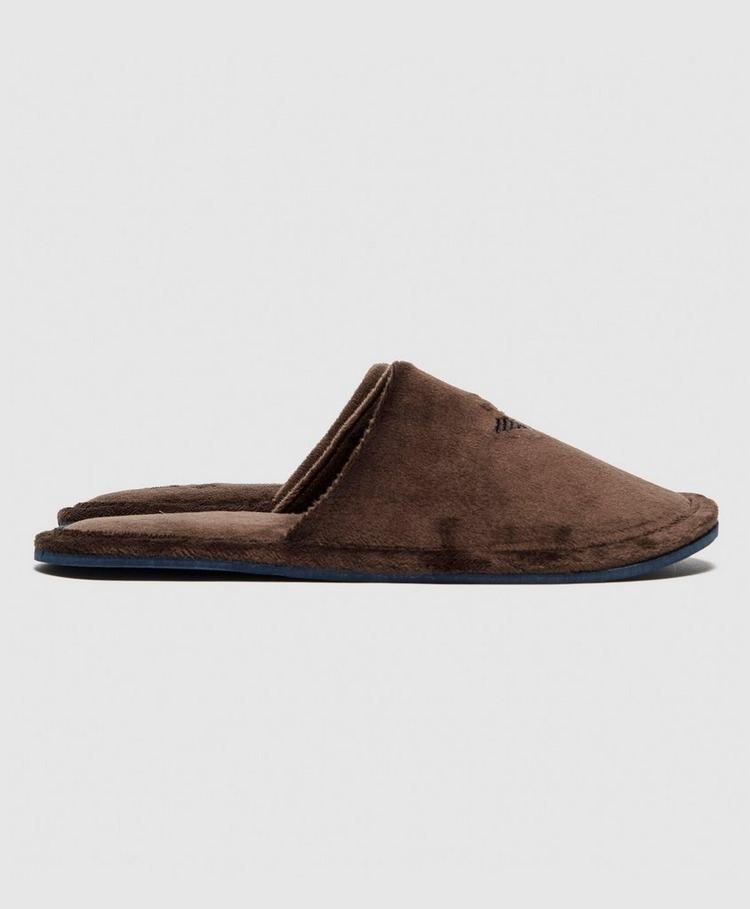 Emporio Armani Velour Slippers