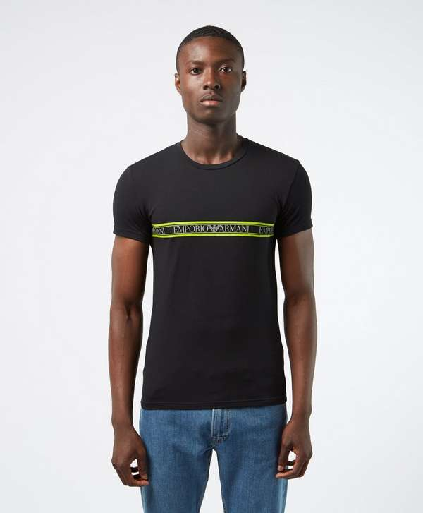 Emporio Armani Band Crew Short Sleeve T-Shirt