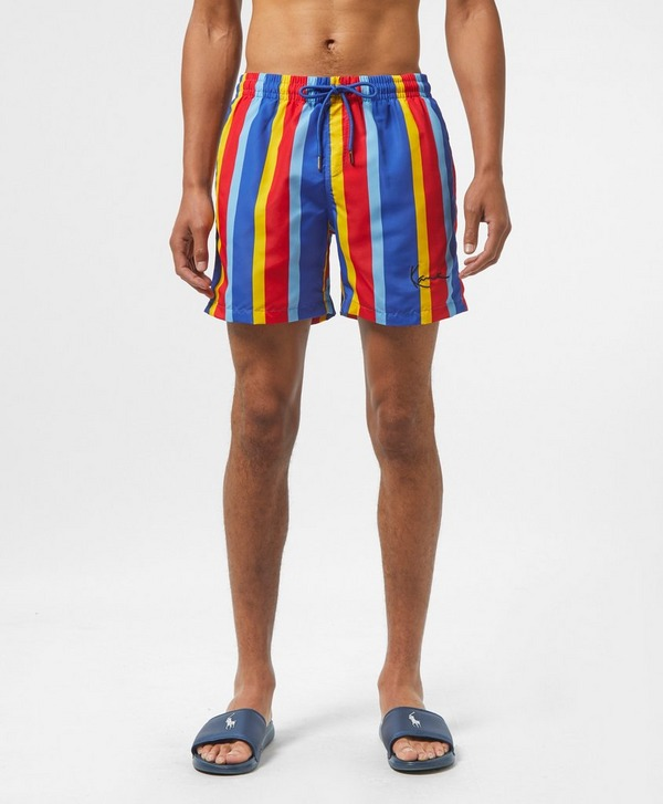 Karl Kani Vertical Stripe Swim Shorts