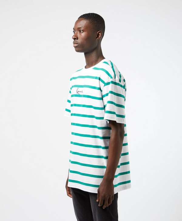Karl Kani Logo Short Sleeve Stripe T-Shirt