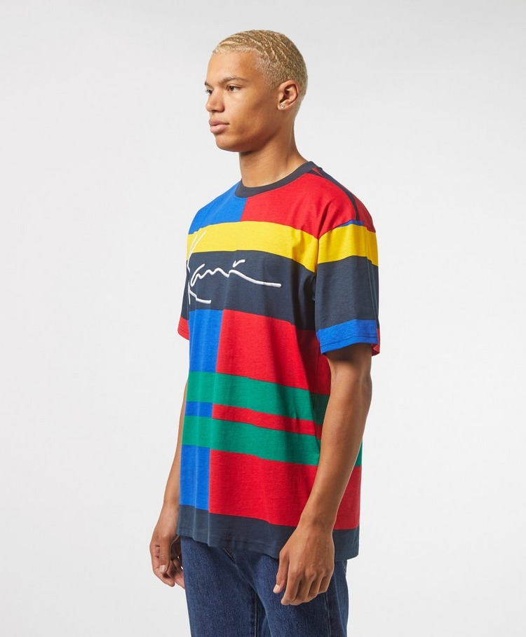 Karl Kani Colour Block Stripe Short Sleeve T-Shirt