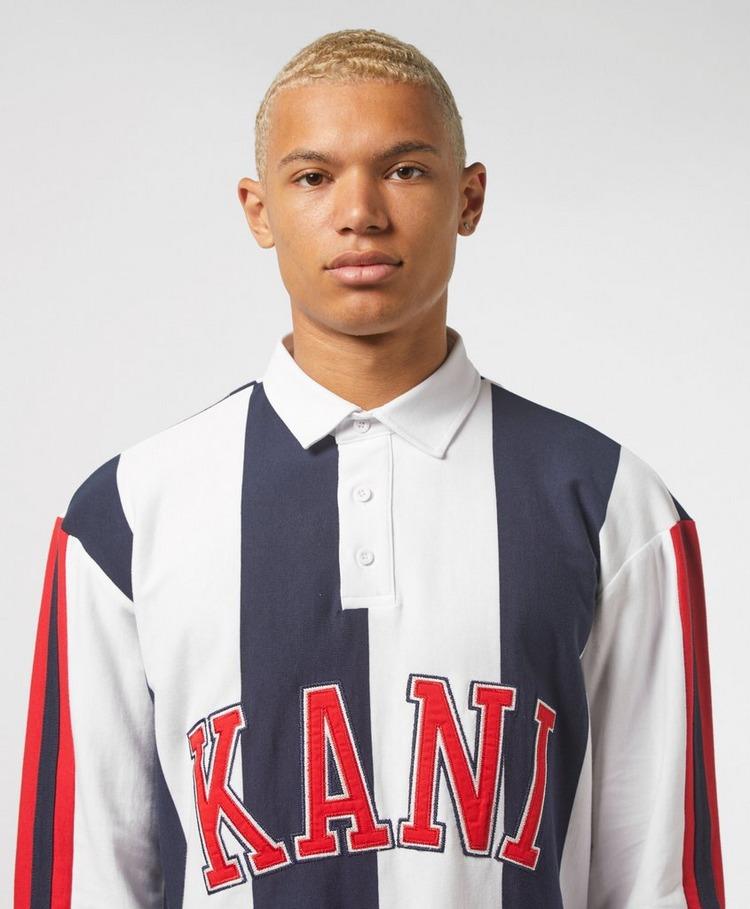 Karl Kani Stripe Rugby Long Sleeve Polo Shirt