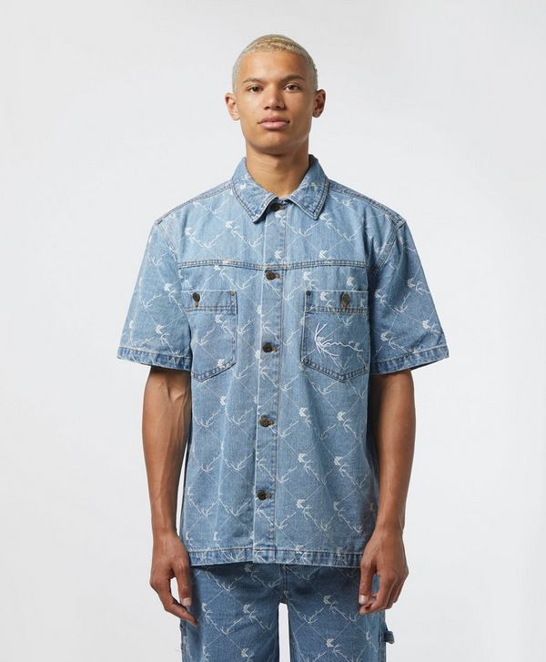 Karl Kani All Over Print Short Sleeve Denim Shirt