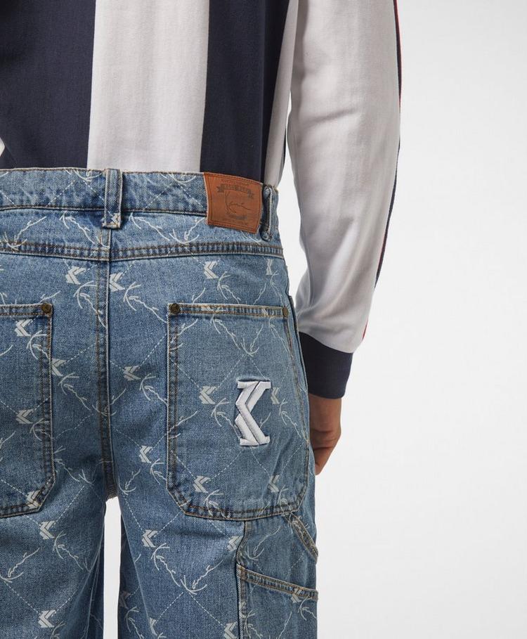 Karl Kani All Over Print Denim Shorts